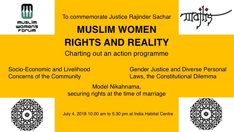 Muslim women: Rights and Reality (Charting out an Action Programme)