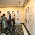 Viewers of the exhibition